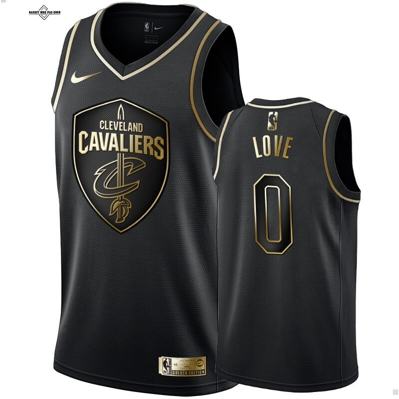 Maillot NBA Pas Cher - Maillot NBA Nike Cleveland Cavaliers NO.0 Kevin Love Or Edition 2020-21
