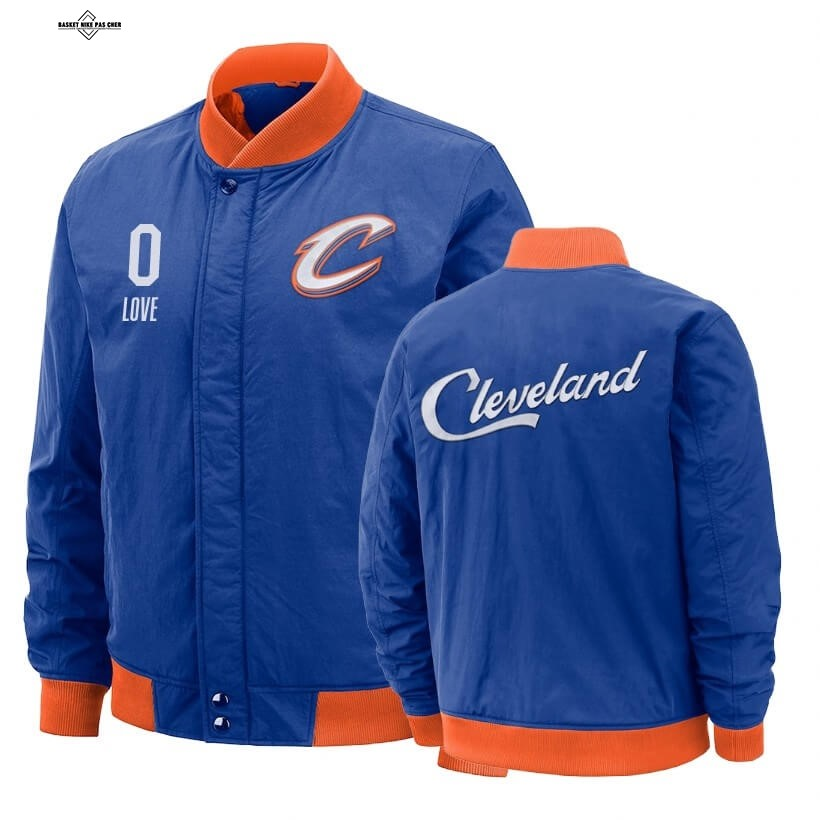 Maillot NBA Pas Cher - Survetement NBA Cleveland Cavaliers NO.0 Kevin Love Bleu Ville 2020