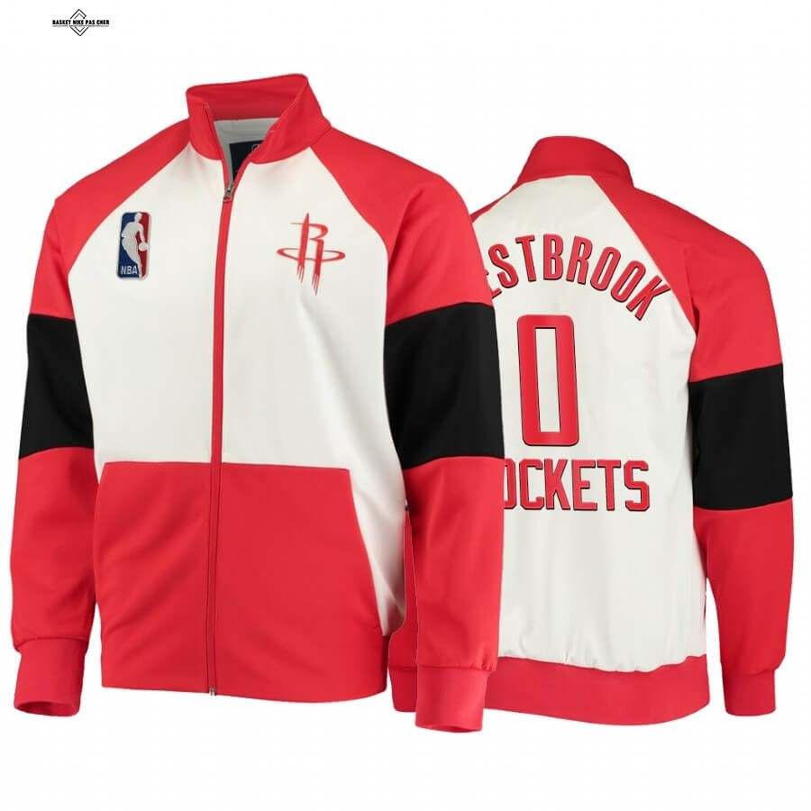 Maillot NBA Pas Cher - Survetement NBA Houston Rockets NO.0 Russell Westbrook Rouge 2020