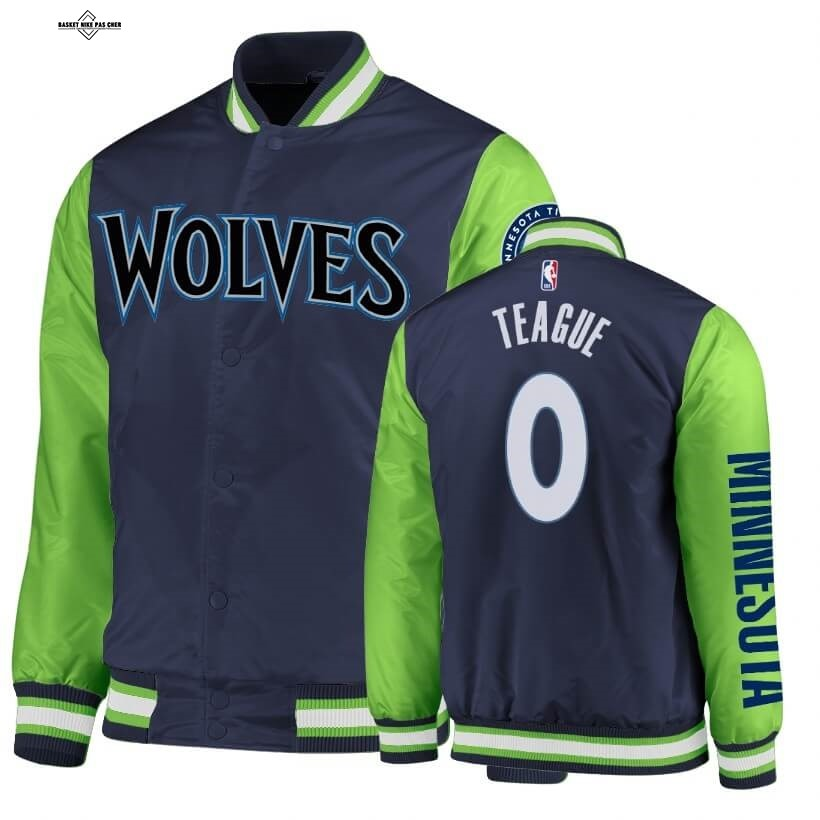 Maillot NBA Pas Cher - Survetement NBA Minnesota Timberwolves NO.0 Jeff Teague Marine Vert 2020
