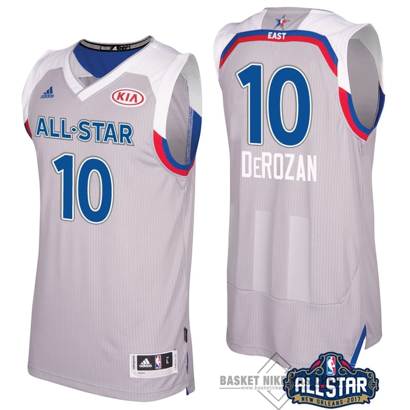 Maillot NBA Pas Cher - Maillot NBA 2017 All Star NO.10 Demar Derozan Gray