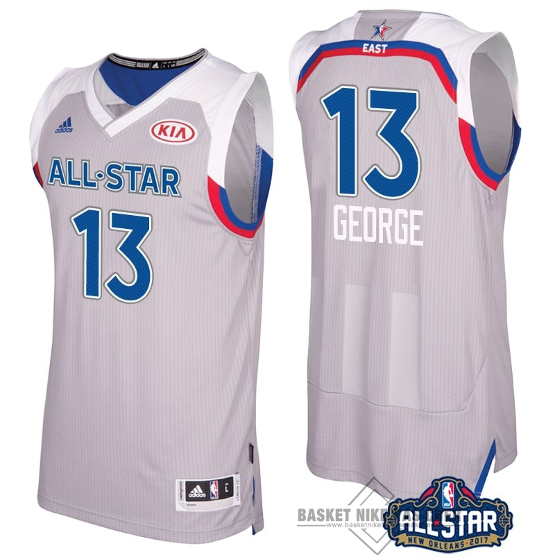 Maillot NBA Pas Cher - Maillot NBA 2017 All Star NO.13 Paul George Gray