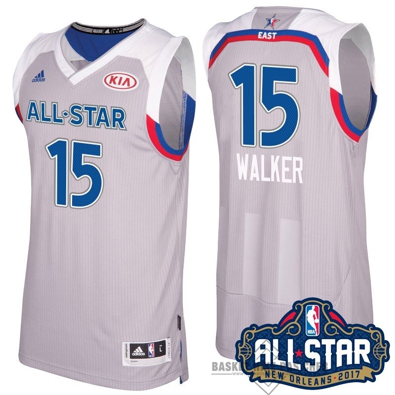 Maillot NBA Pas Cher - Maillot NBA 2017 All Star NO.15 kemba Walker Gray