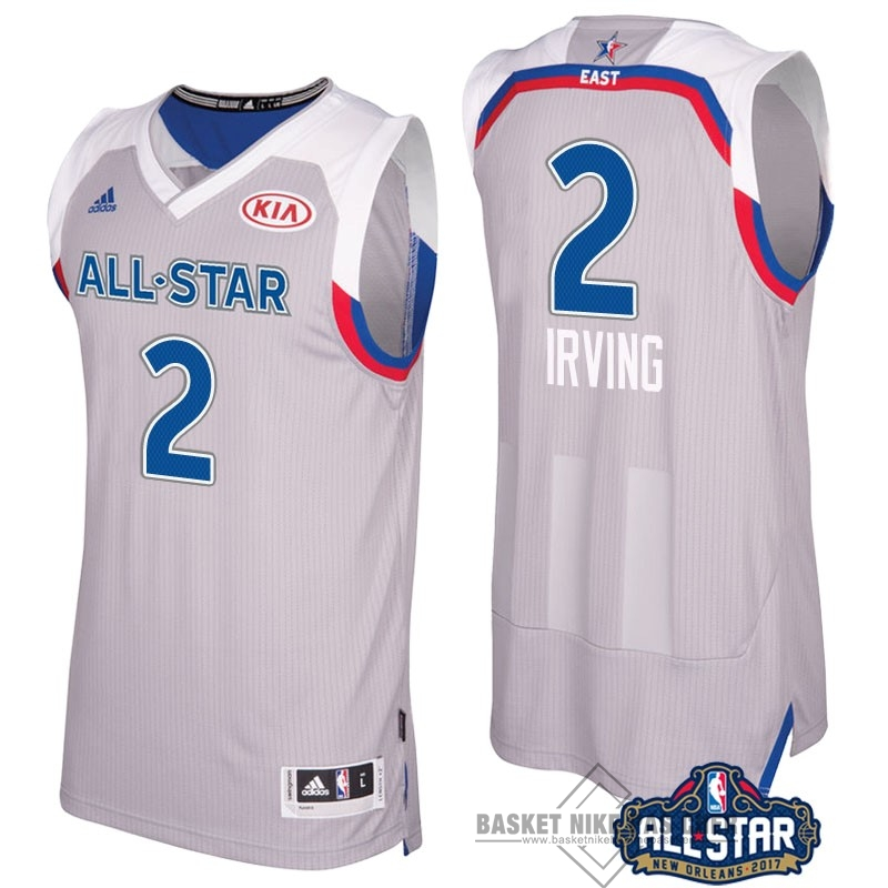 Maillot NBA Pas Cher - Maillot NBA 2017 All Star NO.2 kyrie Irving Gray
