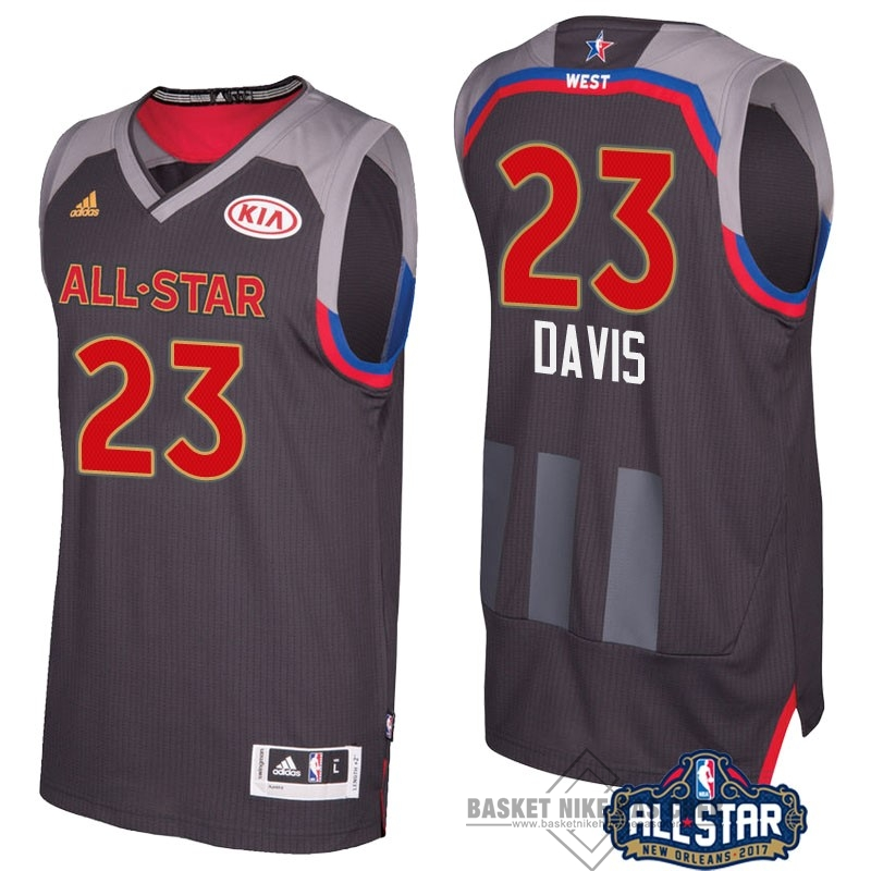 Maillot NBA Pas Cher - Maillot NBA 2017 All Star NO.23 Anthony Davis Charbon