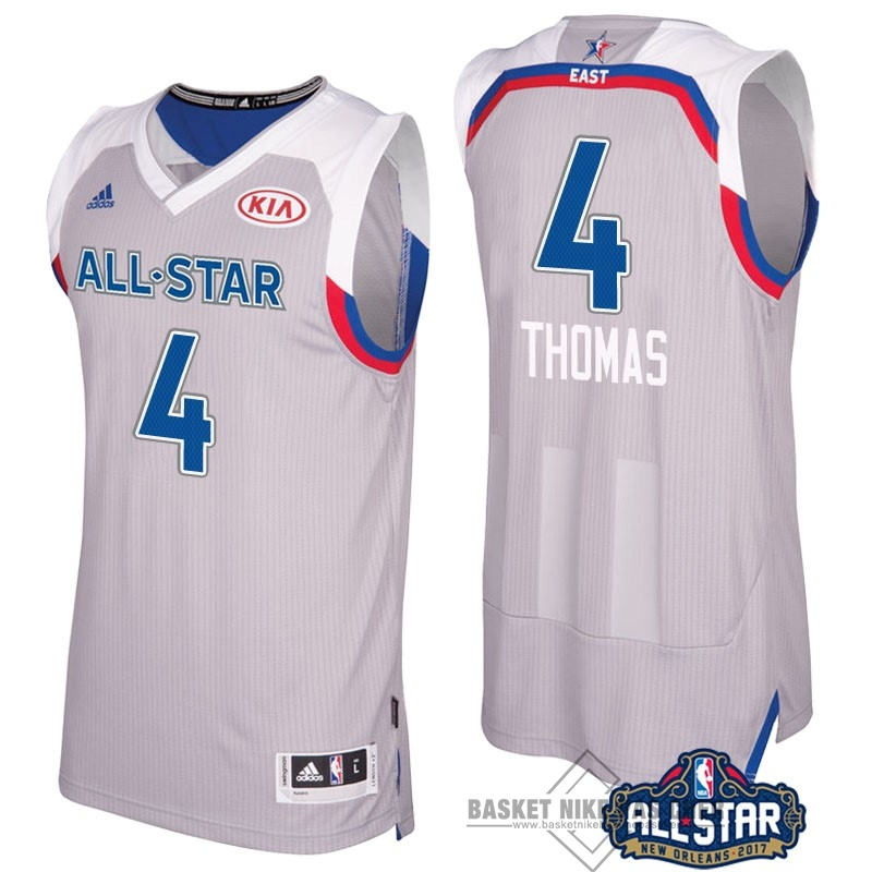 Maillot NBA Pas Cher - Maillot NBA 2017 All Star NO.4 Isaiah Thomas Gray
