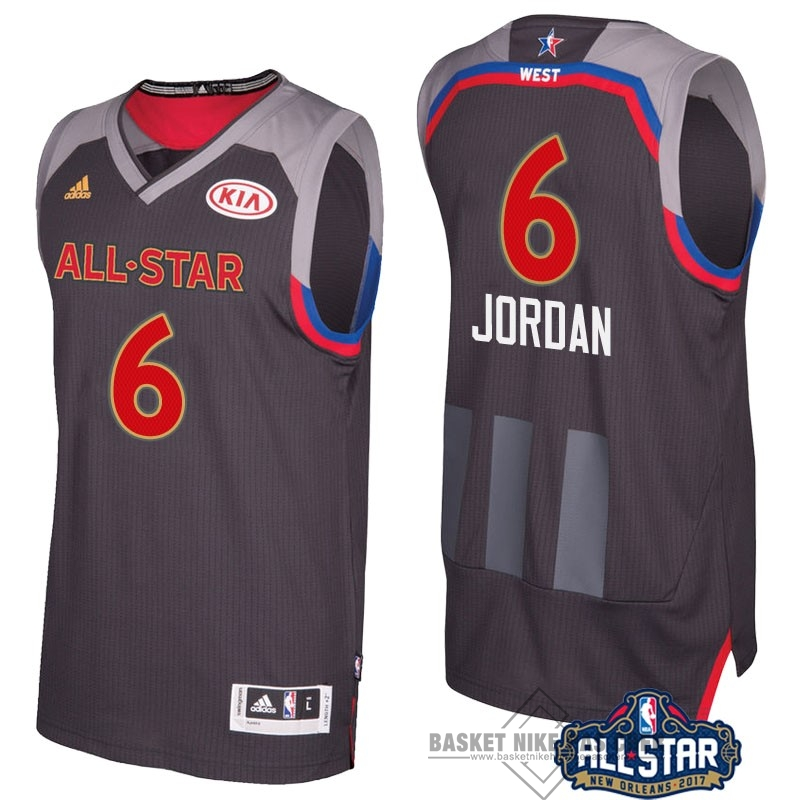 Maillot NBA Pas Cher - Maillot NBA 2017 All Star NO.6 Deandre Jordan Charbon