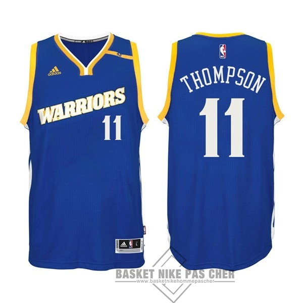 Maillot NBA Pas Cher - Maillot NBA Golden State Warriors NO.11 Klay Thompson 2016-2017 Bleu