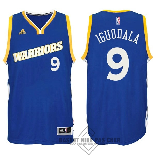 Maillot NBA Pas Cher - Maillot NBA Golden State Warriors NO.9 Andre Iguodala 2016-2017 Bleu