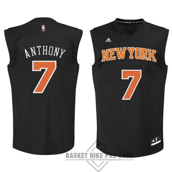 Maillot NBA Pas Cher - Maillot NBA New York Knicks NO.7 Carmelo Anthony Noir Orange