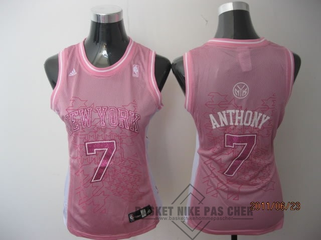 Maillot NBA Pas Cher - Maillot NBA Femme New York Knicks NO.7 Carmelo Anthony Rose