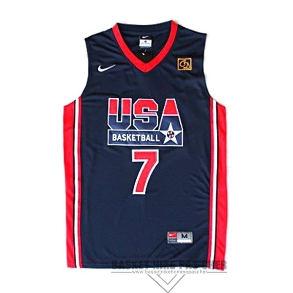 Maillot NBA Pas Cher - Maillot NBA 1992 USA NO.7 Bird Noir