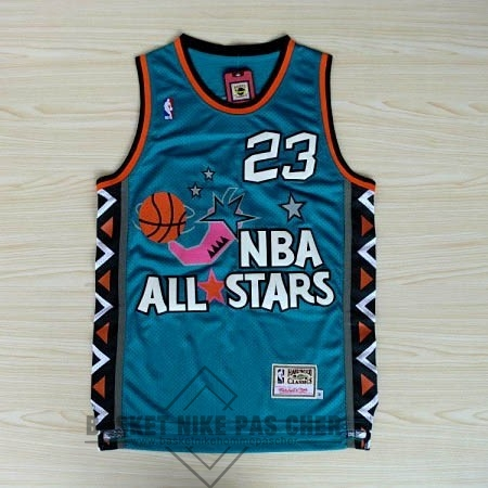 Maillot NBA Pas Cher - Maillot NBA 1996 All Star NO.23 Michael Jordan Bleu