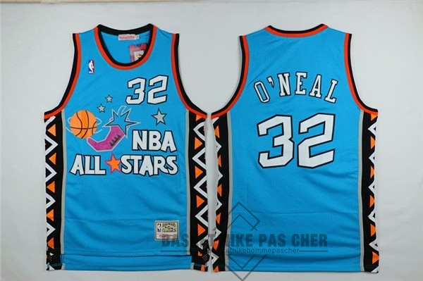 Maillot NBA Pas Cher - Maillot NBA 1996 All Star NO.32 Shaquille O'Neal Bleu