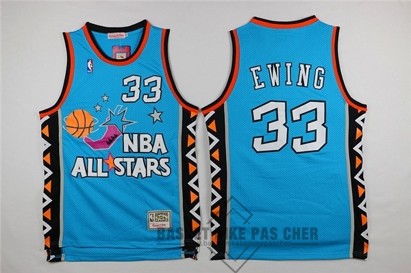 Maillot NBA Pas Cher - Maillot NBA 1996 All Star NO.33 Patrick Ewing Bleu