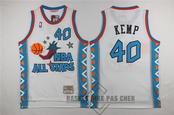 Maillot NBA Pas Cher - Maillot NBA 1996 All Star NO.40 Shawn Kemp Blanc