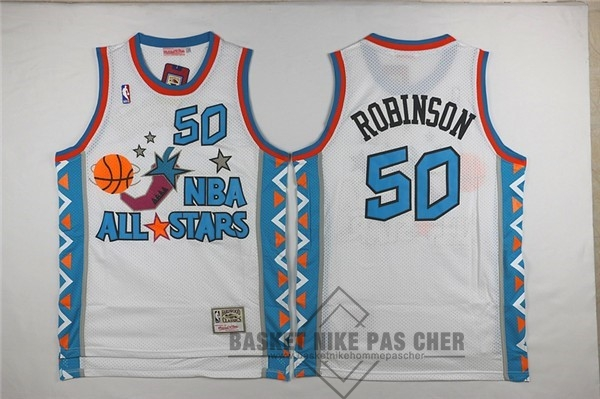 Maillot NBA Pas Cher - Maillot NBA 1996 All Star NO.50 David Robinson Blanc