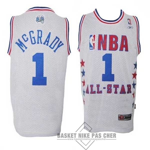 Maillot NBA Pas Cher - Maillot NBA 2003 All Star NO.1 Tracy McGrady Blanc