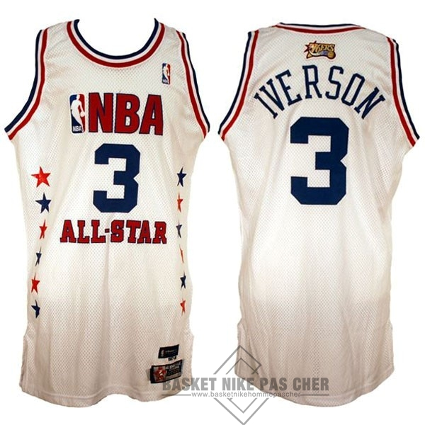 Maillot NBA Pas Cher - Maillot NBA 2003 All Star NO.3 Allen Iverson Blanc
