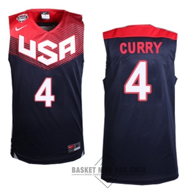 Maillot NBA Pas Cher - Maillot NBA 2014 USA NO.4 Curry Noir