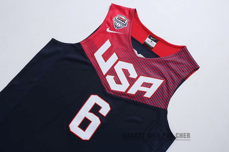 Maillot NBA Pas Cher - Maillot NBA 2014 USA NO.6 Rose Noir