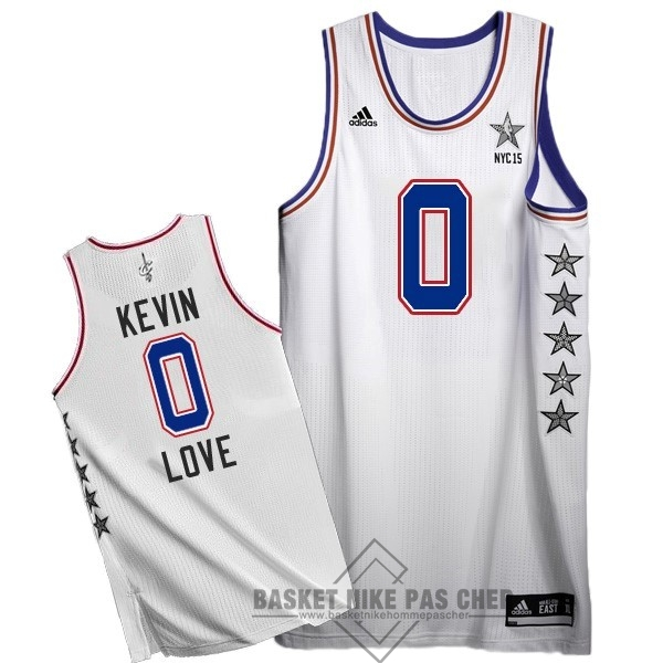 Maillot NBA Pas Cher - Maillot NBA 2015 All Star NO.0 Kevin Love Blanc