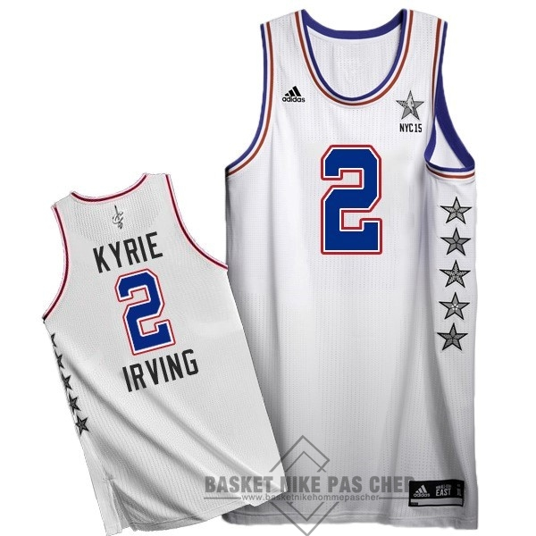Maillot NBA Pas Cher - Maillot NBA 2015 All Star NO.2 Kyrie Irving Blanc