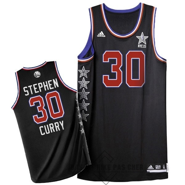 Maillot NBA Pas Cher - Maillot NBA 2015 All Star NO.30 Stephen Curry Noir