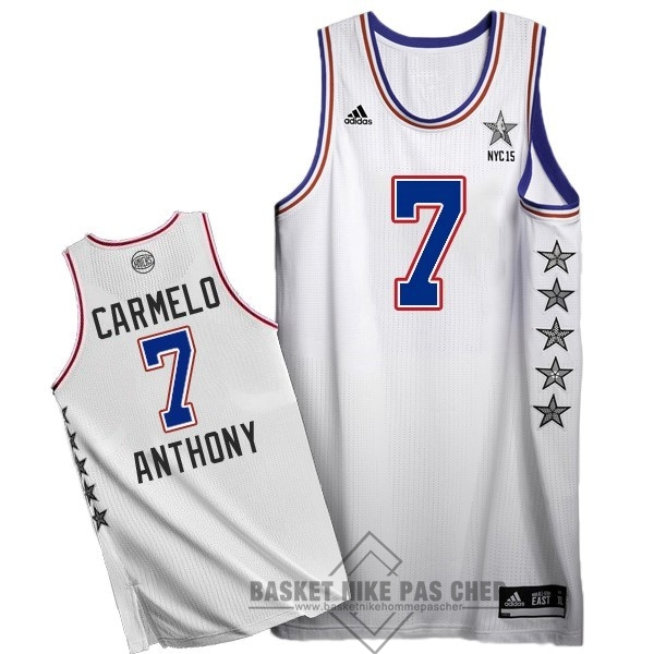 Maillot NBA Pas Cher - Maillot NBA 2015 All Star NO.7 Carmelo Anthony Blanc