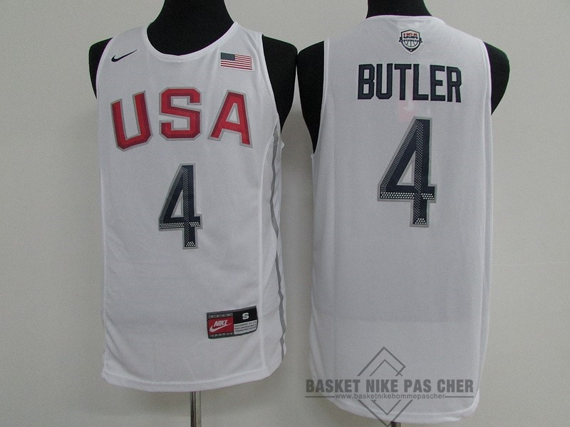 Maillot NBA Pas Cher - Maillot NBA 2016 USA NO.4 Jimmy Butler Blanc