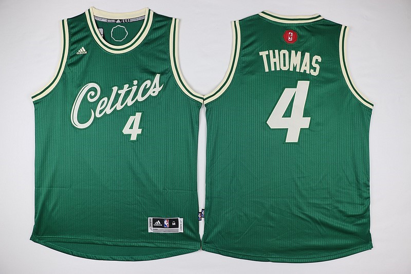 Maillot NBA Pas Cher - Maillot NBA Boston Celtics 2015 Noël NO.4 Thomas Vert