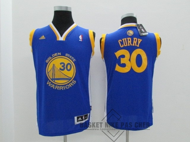 Maillot NBA Pas Cher - Maillot NBA Enfant Golden State Warriors NO.30 Stephen Curry Bleu