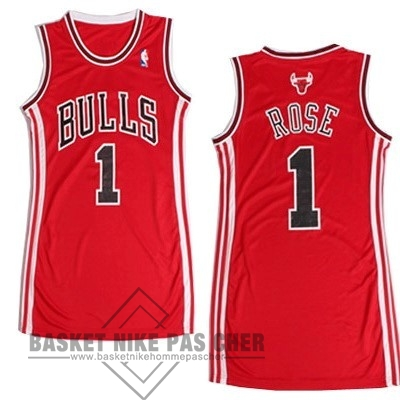 Maillot NBA Pas Cher - Maillot NBA Femme Chicago Bulls NO.1 Derrick Rose Rouge