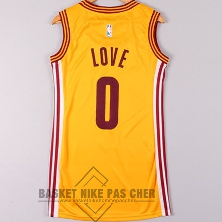 Maillot NBA Pas Cher - Maillot NBA Femme Cleveland Cavaliers NO.0 Kevin Love Jaune