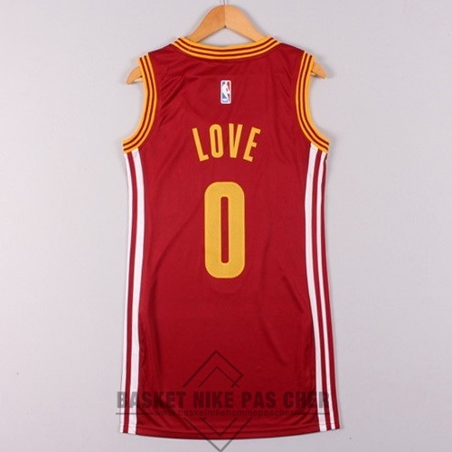 Maillot NBA Pas Cher - Maillot NBA Femme Cleveland Cavaliers NO.0 Kevin Love Rouge