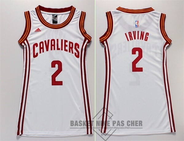 Maillot NBA Pas Cher - Maillot NBA Femme Cleveland Cavaliers NO.2 Kyrie Irving Blanc