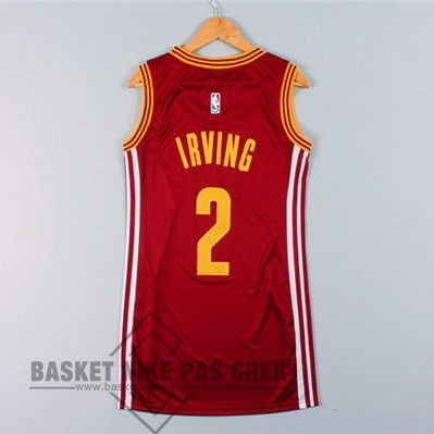 Maillot NBA Pas Cher - Maillot NBA Femme Cleveland Cavaliers NO.2 Kyrie Irving Rouge