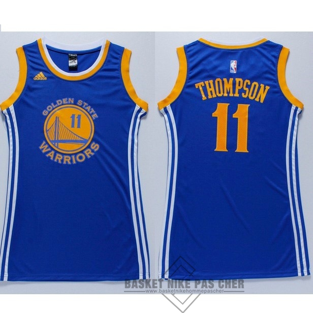 Maillot NBA Pas Cher - Maillot NBA Femme Golden State Warriors NO.11 Klay Thompson Bleu