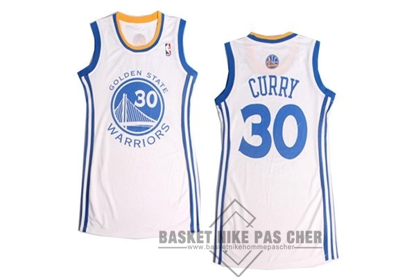 Maillot NBA Pas Cher - Maillot NBA Femme Golden State Warriors NO.30 Stephen Curry Blanc