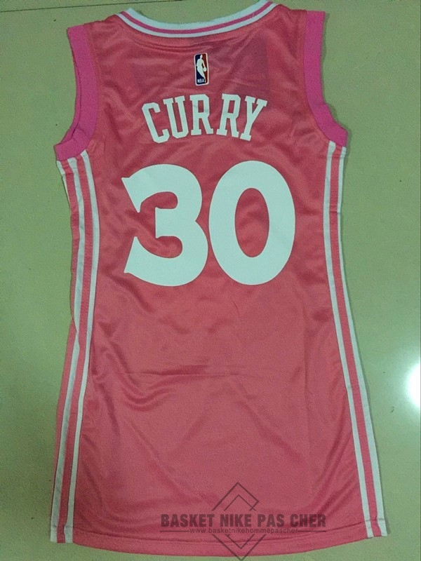 Maillot NBA Pas Cher - Maillot NBA Femme Golden State Warriors NO.30 Stephen Curry Rose