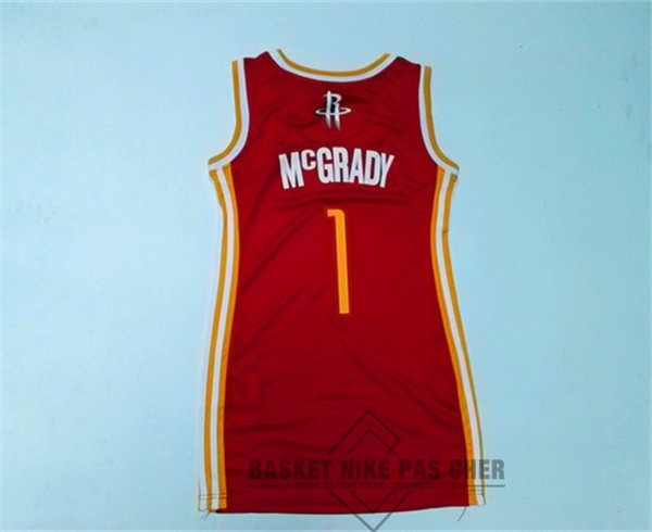 Maillot NBA Pas Cher - Maillot NBA Femme Houston Rockets NO.1 Tracy McGrady Rouge