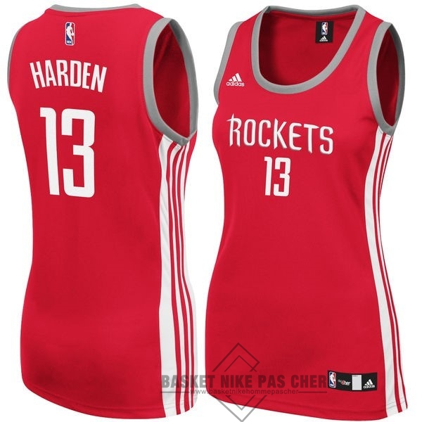 Maillot NBA Pas Cher - Maillot NBA Femme Houston Rockets NO.13 James Harden Rouge