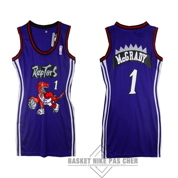 Maillot NBA Pas Cher - Maillot NBA Femme Toronto Raptors NO.1 Tracy McGrady Pourpre