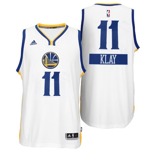 Maillot NBA Pas Cher - Maillot NBA Golden State 2014 Noël NO.11 Klay Blanc