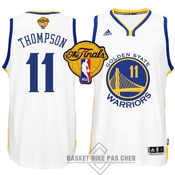 Maillot NBA Pas Cher - Maillot NBA Golden State Warriors Finales NO.11 Thompson Blanc