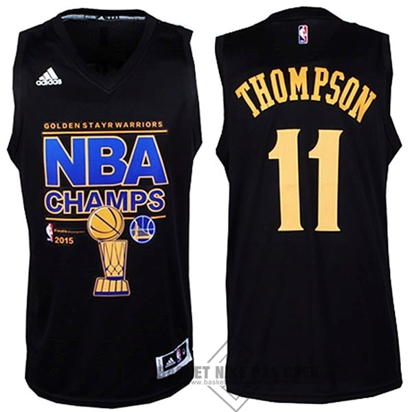 Maillot NBA Pas Cher - Maillot NBA Golden State Warriors Finales NO.11 Thompson Noir