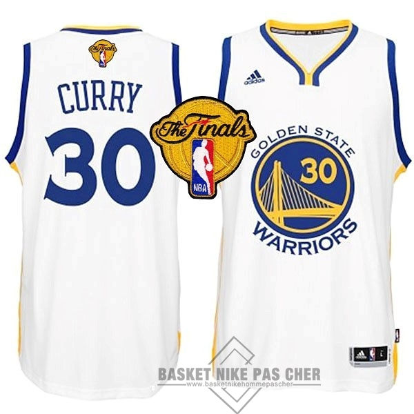 Maillot NBA Pas Cher - Maillot NBA Golden State Warriors Finales NO.30 Curry Blanc