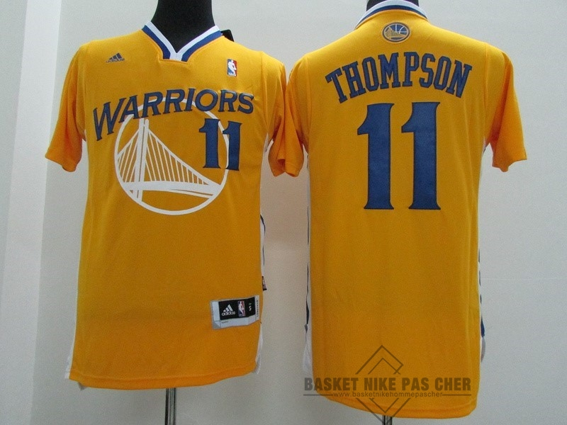 Maillot NBA Pas Cher - Maillot NBA Golden State Warriors Manche Courte NO.11 Klay Thompson Jaune