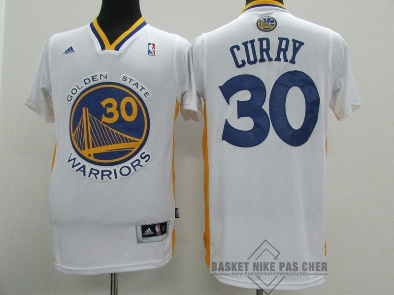 Maillot NBA Pas Cher - Maillot NBA Golden State Warriors Manche Courte NO.30 Stephen Curry Blanc