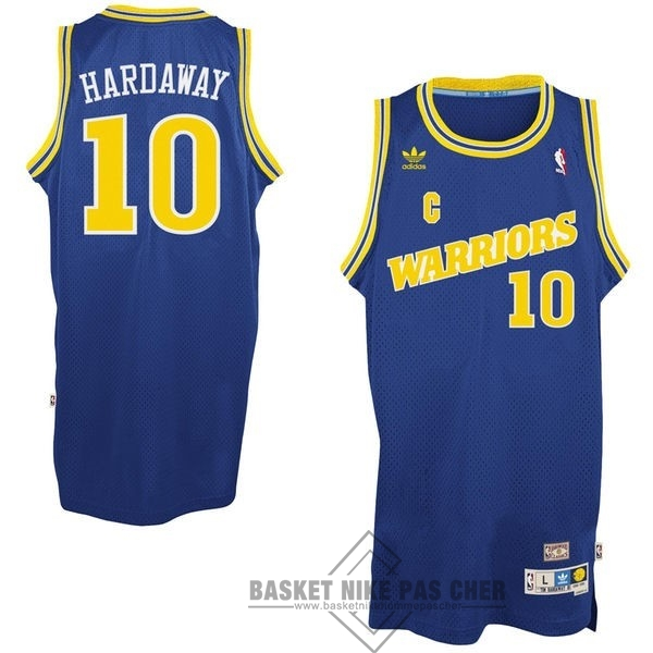 Maillot NBA Pas Cher - Maillot NBA Golden State Warriors NO.10 Anfernee Hardaway Retro Bleu